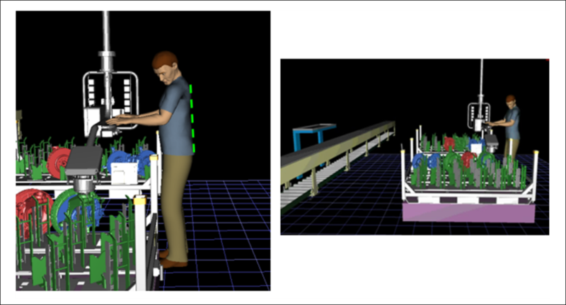 wcm Simulation of an ergonomic workstation